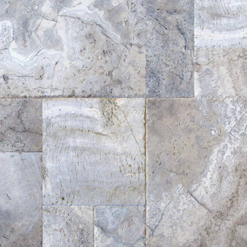 Silver Travertine 12x12 Honed Unfilled Tumbled Paver