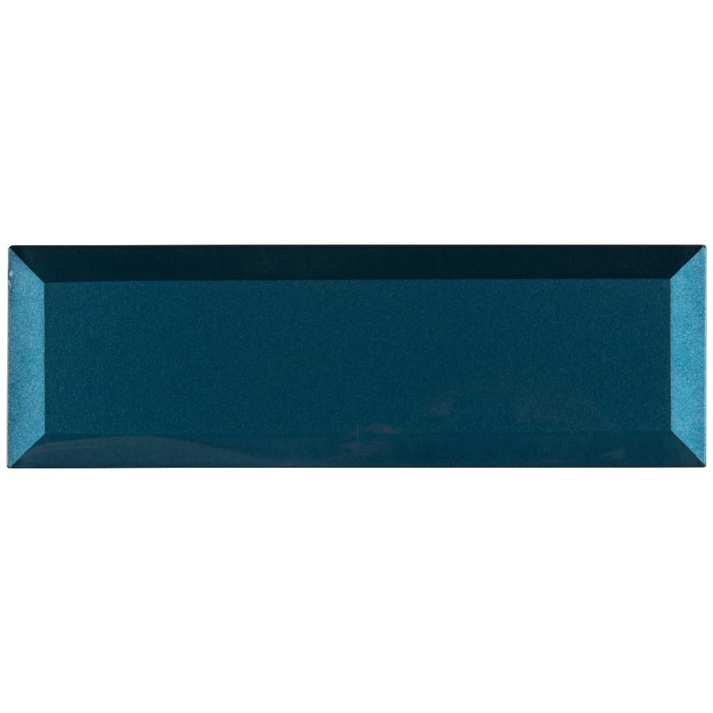Tahiti Blue 2 5x8 Beveled Glass Subway Tile Tilesbay Com
