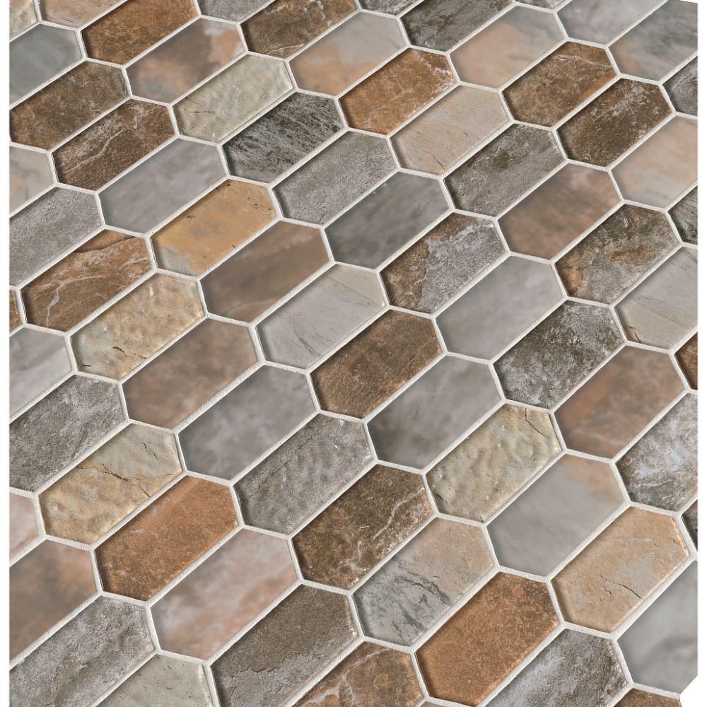 Taos Picket Pattern Inkjet Glass Mosaic