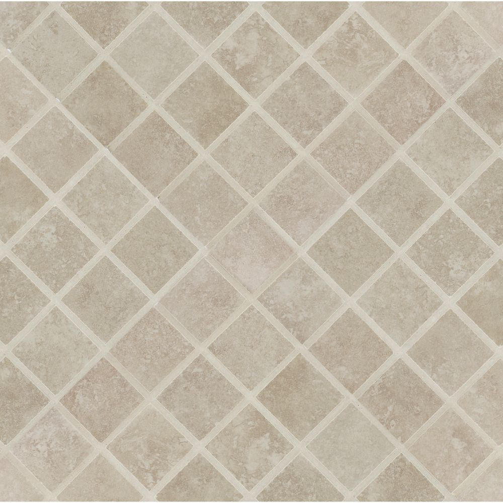 Travertino Beige 2X2 Matte Porcelain Mosaic