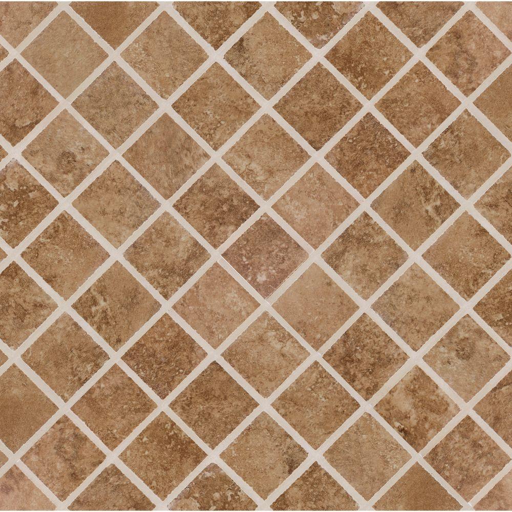 Travertino Walnut 2X2 Matte Mosaic