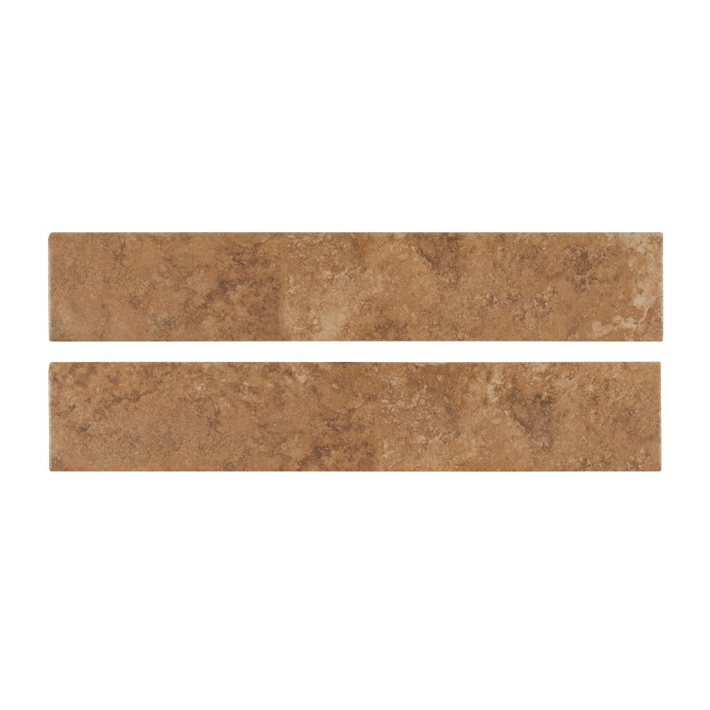 Travertino Walnut 3x18 Matte Bullnose Tile