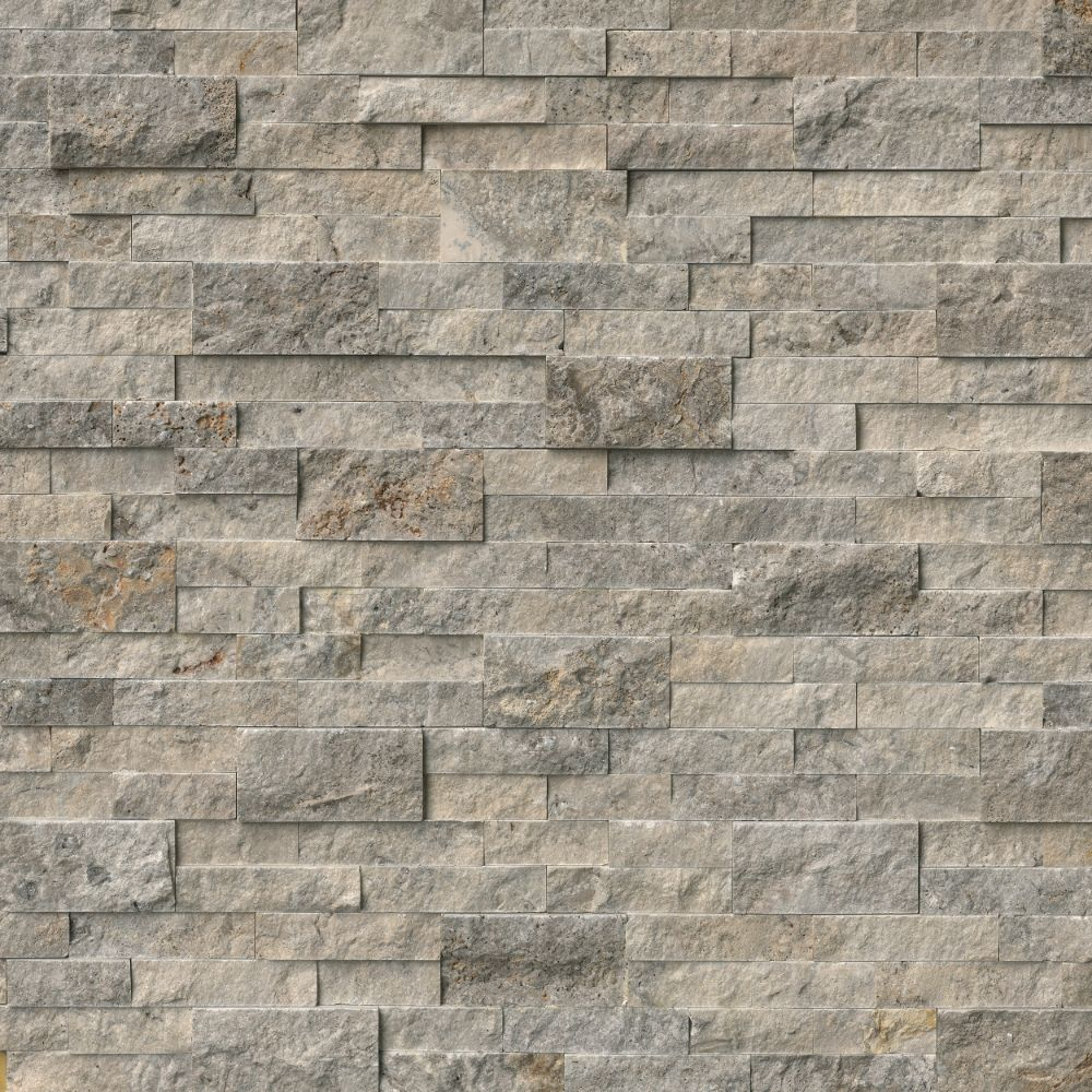 Trevi Gray Ledger Panel 6X24 Natural Travertine Wall Tile