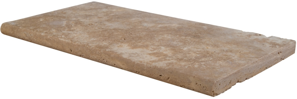 Tuscany Beige 12X24X1.2 Honed Unfilled One Long Side Bullnose Pool Coping