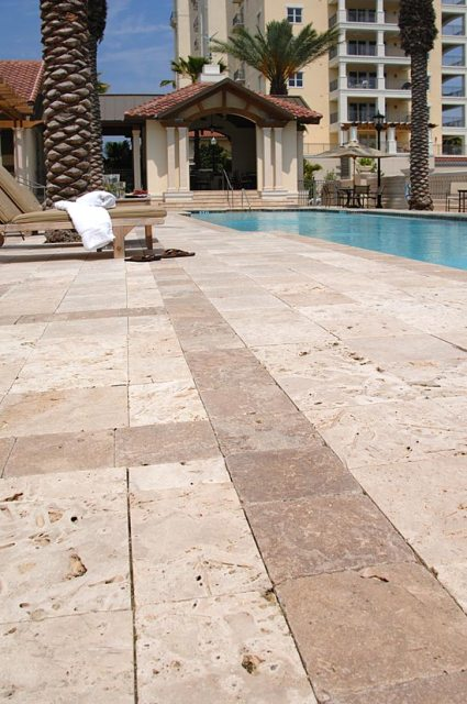 Tuscany Beige 16X16 Honed Unfilled Tumbled Paver