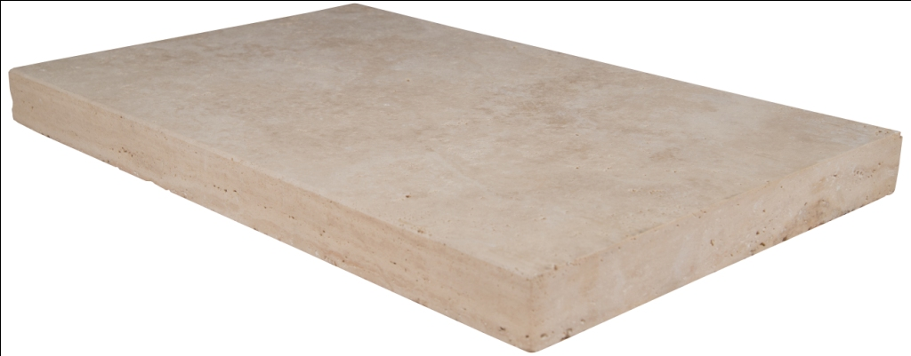 Tuscany Beige 16x24 Honed Unfilled Brushed Eased Edges Pool Coping