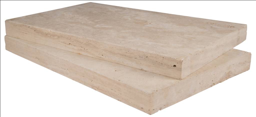Tuscany Beige 16X24 Honed Unfilled Brushed One Long Side Bullnose Pool Coping