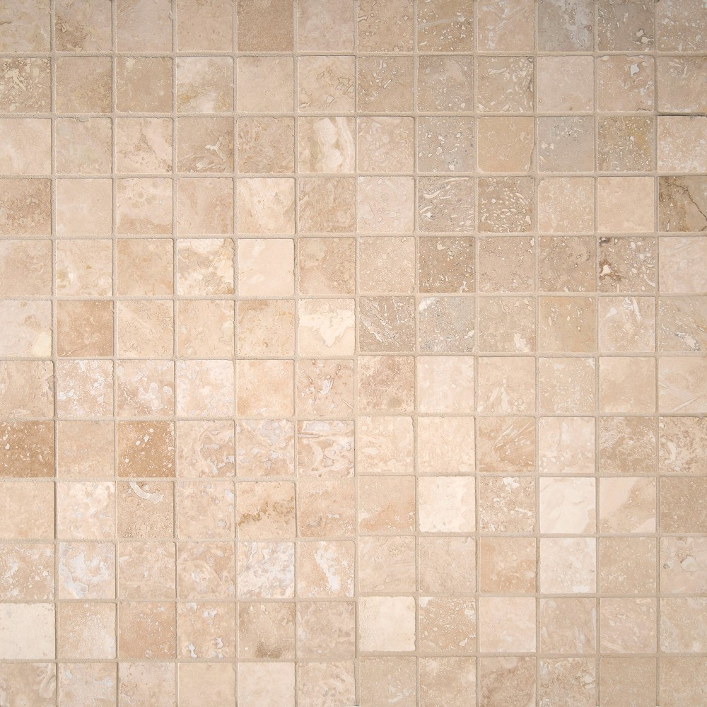 Ivory Light Honed Filled Travertine Tiles 18x18: Tuscany Ivory Honed And Filled 2x2 Travertine Mosaic