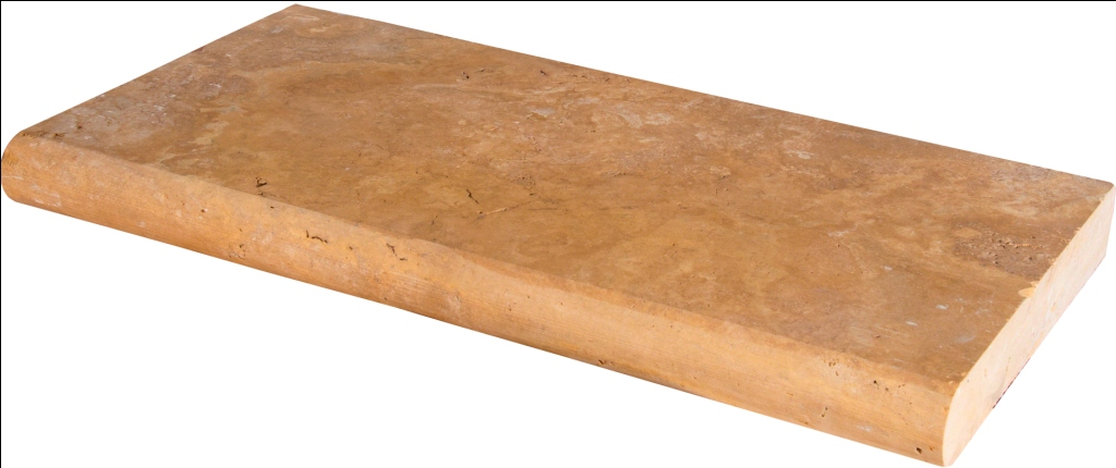 Tuscany Riviera 16X24 Honed Unfilled Brushed One Long Side Bullnose Pool Coping