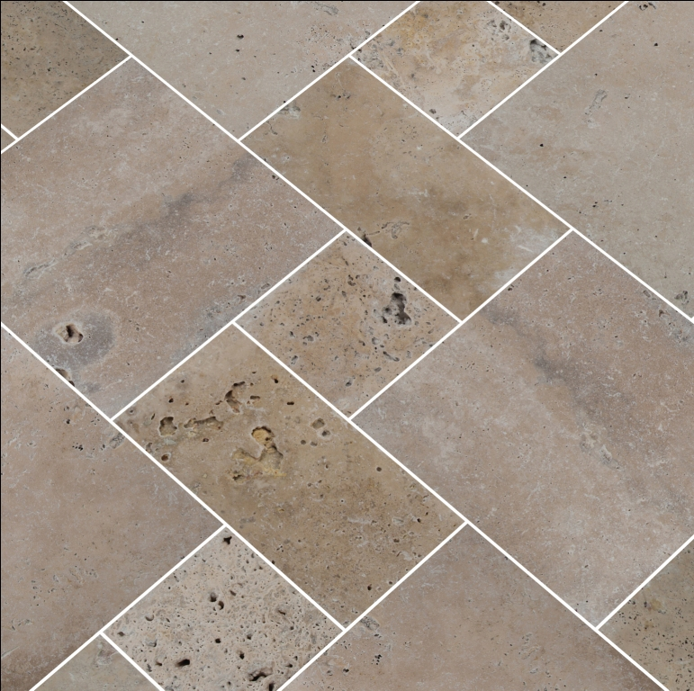 Tuscany Walnut 6x6 Tumbled Travertine Paver