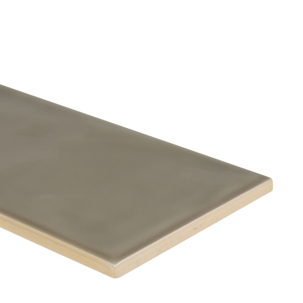 Urbano Warm Concrete 4x12 Glossy Ceramic Subway Tile