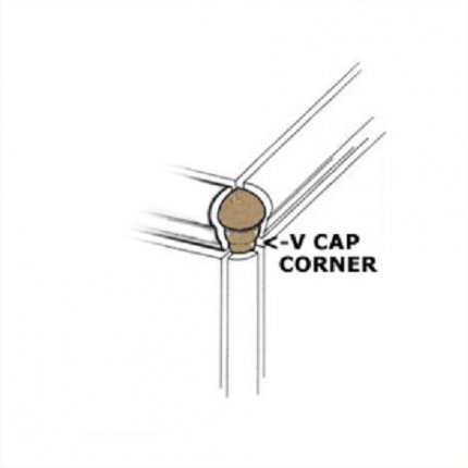 Venice Noce V-Cap Corner 1x3 Glazed