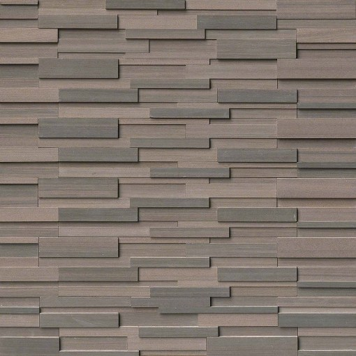Brown Wave L Corner Panel 3D 6x18x6 Honed