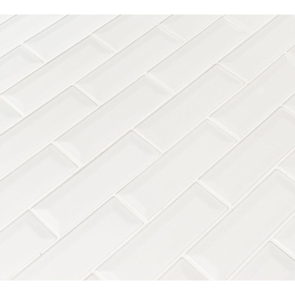 Whisper White 2x6 Bevel Subway Ceramic Tile