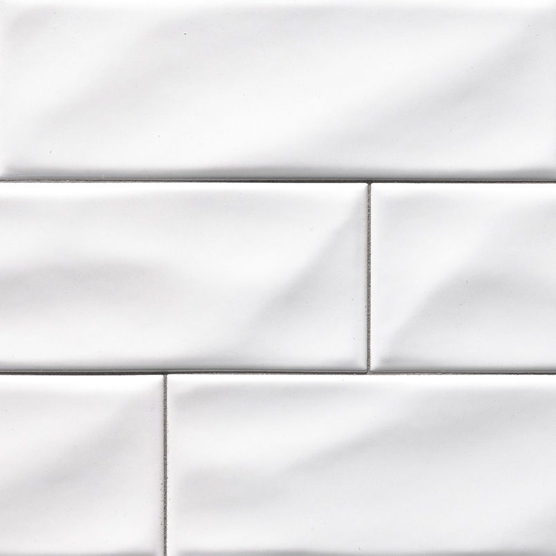 Whisper White 4x12 Handcrafted Glossy Subway Tile