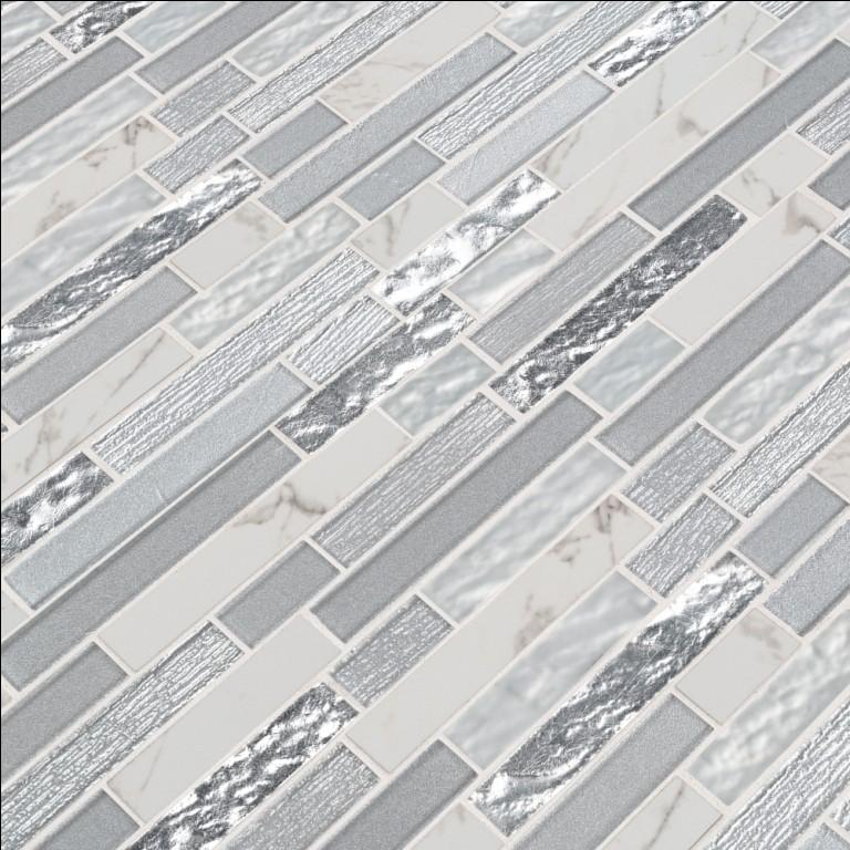 Whistler Ice Interlocking 8mm Glass Wall Tile