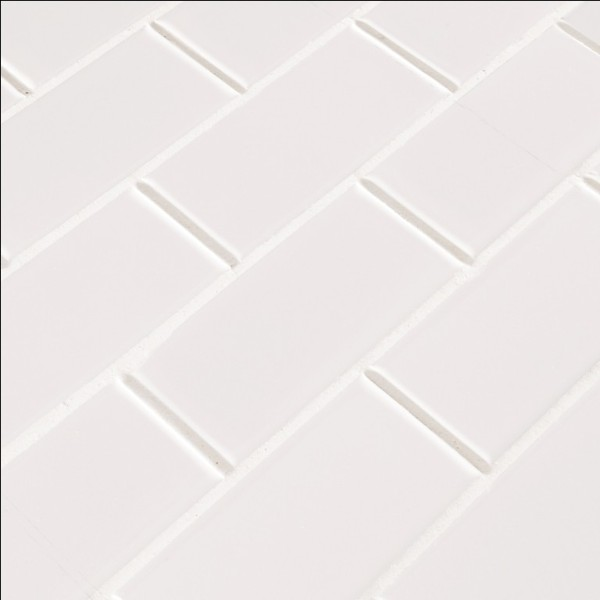 Domino White Glossy 2x4 Staggered Subway Tile Tilesbay Com