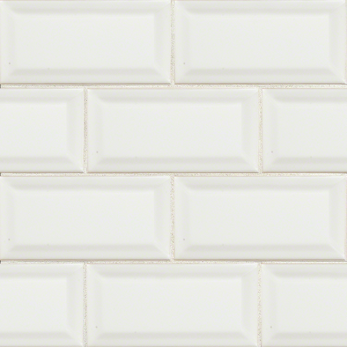 White Hudson 3X6 Glossy Bevel Subway Tile