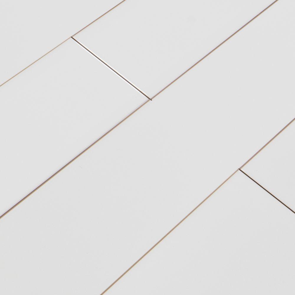 White Hudson 4X16 Glossy Subway Tile