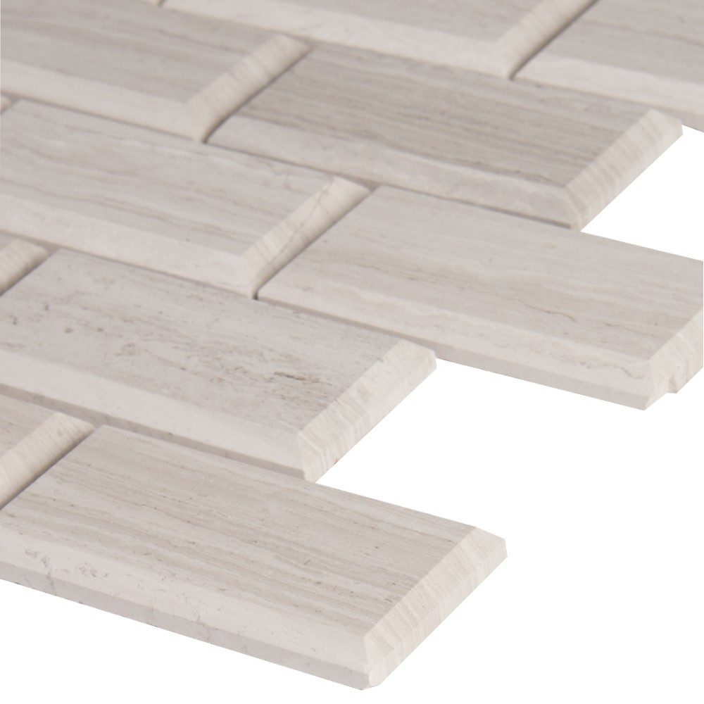 White Oak 2x4 Honed & Beveled Subway Tile