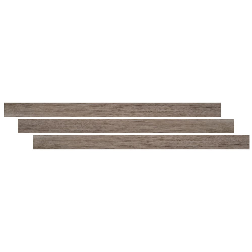 Whitfield Gray 2-3/4X94 Vinyl Flush Stair Nose