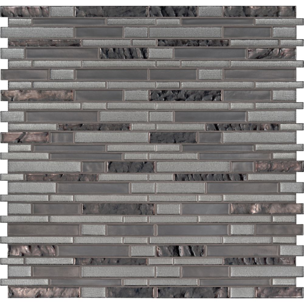 Zamora Interlocking Pattern 8mm Glass Tile