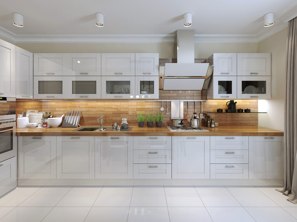 white kitchen tiles