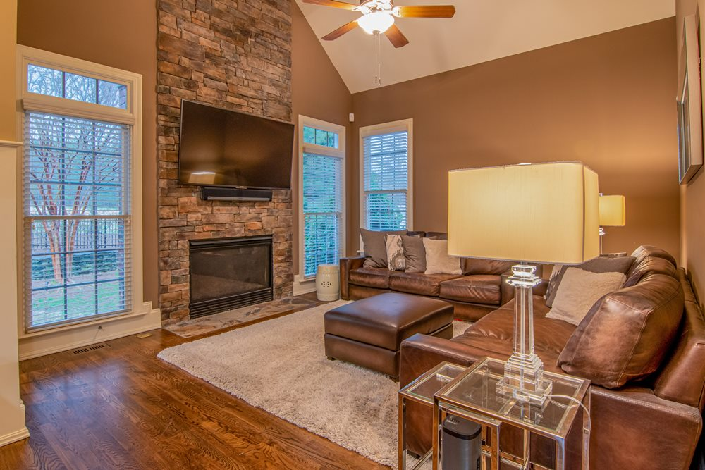 what is stacked stone fireplace